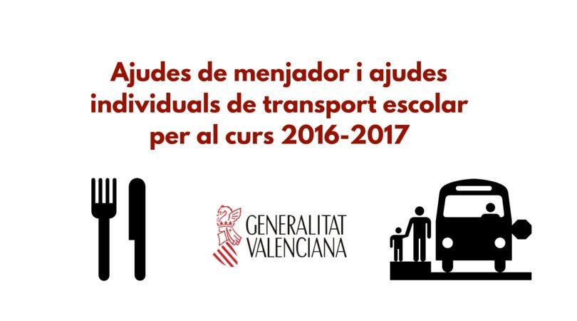 Becas comedor y transporte generalitat valenciana casa - Becas comedor valencia ...