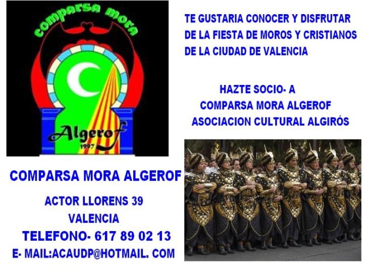 PUBLICIDAD COMPARSA MORA ALGEROF