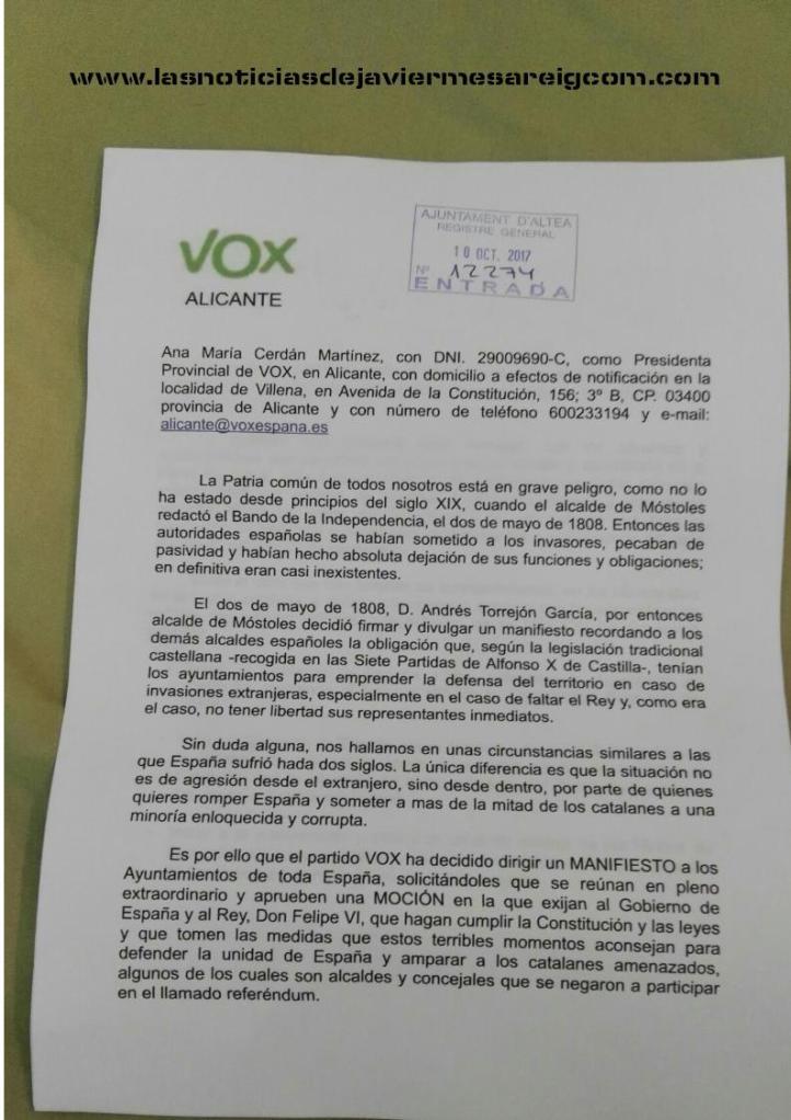 VOX ALICANTE