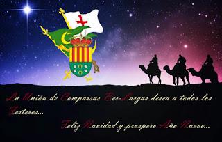 Postal Navidad Federación Unión de Comparsas San Vicente 2017