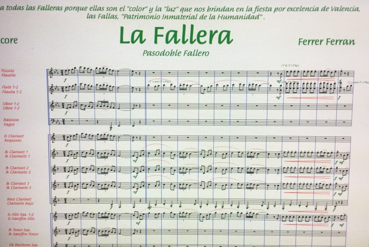 pasodoble La Fallera
