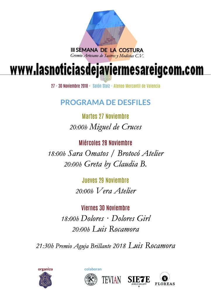Programa de desfiles III Semana de la Costura_Gremio Sastres y Modistas CV (1)